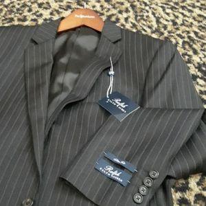 Ralph Lauren Slim Fit brown WOOL Pinstripe Jacket